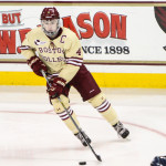 Boston College junior defenseman Teddy Doherty, of Hopkinton, MA., scored two goals in his team's 3-2 win over Minnesota-Duluth in Worcester, MA., Saturday night.  Doherty came into the NCAA Tournament seventh on his team in goals scored with 11, and 13th in assists with 12.  Boston College advanced to the Frozen Four in Tampa, Florida, on April 7th, to face the winner of the Quinnipiac/UMass-Lowell game to be played Sunday in Albany, NY.