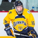 Quinnipiac sophomore forward Landon Smith, of Greenwood Village, CO., is fourth on his team in goals scored with 11, and is second in assists with 25.