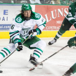 North Dakota sophomore forward Brock Boeser, of Burnsville, MN, notched a hat-trick in his team's 3-2 win Friday night, and scored two goals in his team's 5-4 win Saturday night, both against Bemidji State.  Boeser is first on his team in goals scored, with six, and is first on his team in assists, with six.  North Dakota is ranked #1, and will host #2 Minnesota-Duluth for two games this weekend.  Read all about Boeser and his team's sweep of Bemidji State in today's post.