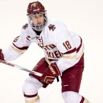 Boston College sophomore forward Colin White, of Hanover, MA, scored a goal and tallied an assist in his team's 5-3 win over New Hampshire, and scored a goal in his team's 3-1 win over Arizona State.  White is second on his team in goals scored, with seven, and is tied for fourteenth in assists, with three.  Boston College is 10-2-1, is ranked #3, and will travel to play #11 Harvard Friday night, then to Connecticut Tuesday night.