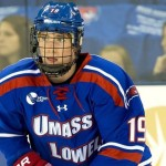 UMass-Lowell junior forward C. J. Smith, of Des Moines, IA, leads his team in goals scored with nine, and is tied for third in assists, with eight.  UMass-Lowell is 8-4-2, is ranked #4, and plays a home-and-home pair against the University of Connecticut this weekend.