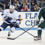 Penn State sophomore forward Chase Berger, of St. Louis, MO, scored a goal and notched an assist in his team's 5-2 win Friday night, and scored two goals in his team's 5-3 win Saturday night, both against Michigan State.  Berger is third on his team in goals scored, with ten, and is eighth in assists, with eight.  Penn State is