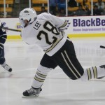 Western Michigan freshman defenseman Cam Lee, of Ferguson's Cove, N.S., scored a goal and added an assist in his team's 2-1 win over Miami of Ohio Friday night, as his team went on to split the weekend.  Lee is tied for fourteenth on his team in goals scored, with one, and is tied for third in assists, with nine.  Western Michigan is 14-7-3, ranked #9, and hosts Arizona State for two games this weekend.  Read all about Lee and Western Michigan in today's post.