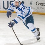 Air Force Academy junior forward Jordan Himley, of Mundelien, IL, scored the winning goal, and added an assist, in his team's 2-1 win for the Atlantic Hockey Championship over Robert Morris University Saturday night in Rochester, NY.  Himley leads his team in goals scored, with twenty, and it tied for seventh in assists, with thirteen.  Air Force is