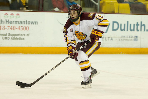 Minnesota Duluth senior defensman Willir Raskob, of Hastings, MN, scored the OT goal to give his team a 3-2 win over Ohio State, and to advance to play Boston University today at 3:00PM Pacific Time on ESPNU.