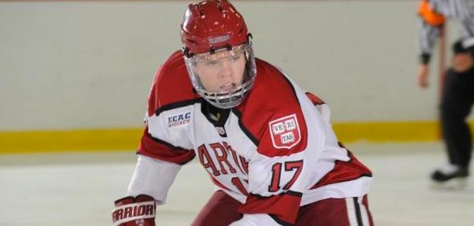 Harvard senior forward Sean Malone, of West Seneca, NY, is third on his team in goals scored, with 18, and is third in assists, with 24.