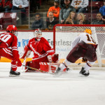 """Minnesota freshman forward Scott Reedy, of Prior Lake, MN., scored this game winning-goal and added two assists Friday night in his team's 5-4 home win against Wisconsin, en route to a split with the Badgers on the weekend.  The 6'2"""" 199lb forward is seventh on his team in goals scored, with three, and is tied for twelfth in assists, with two.  Minnesota is 10-7-1, is ranked #7, and travels to play two games at #15 Ohio State this weekend.  Read all about Reedy and his Minnesota team in today's post."""