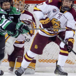 "Minnesota-Duluth freshman forward Scott Perunovich, of Hibbing, MN., tallied two assists in his team's 5-3 win Saturday night, and scored two goals in his team's 5-2 win Saturday night, as they hosted and swept North Dakota.  The 5'10"" 170lb freshman is tied for fourth on his team in goals scored, with six, and is first on his team in assists, with seventeen.  Minnesota-Duluth is 13-9-3, is ranked #9, and plays next tonight at #7 Mankato State, and in addition they will host #5 St. Cloud State for two games on Friday and Saturday nights this weekend.  Read all about Perunovich and his Minnesota-Duluth Bulldog team in today's post."