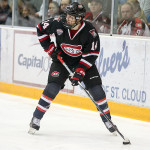 "St. Cloud State junior forward Patrick Newell, of Thousand Oaks, CA., scored two goals and added an assist in his team's 4-0 win Saturday night, and tallied an assist in his team's 5-2 win Friday night, as they swept MIami of Ohio.  The 5'9"" 155lb lefty is tied for tenth on his team in goals scored, with five, and is fifth in assists, with fourteen.  St. Cloud State is 19-6-3, is ranked #3, and plays two games at #15 Western Michigan this weekend."